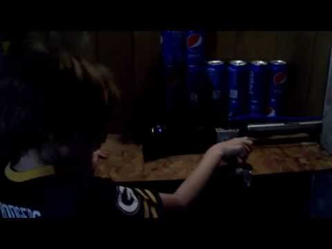 My Son Using A Pneumatic Can Crusher