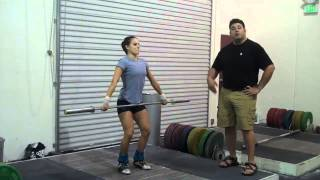 Second Pull in the Snatch Tip for Olympic Weightlifting