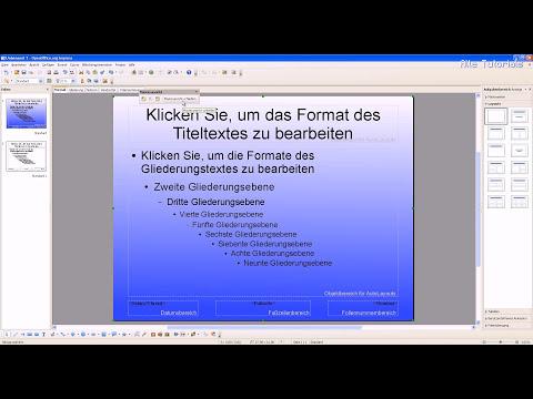 OpenOffice Impress: Hintergrundbild ändern