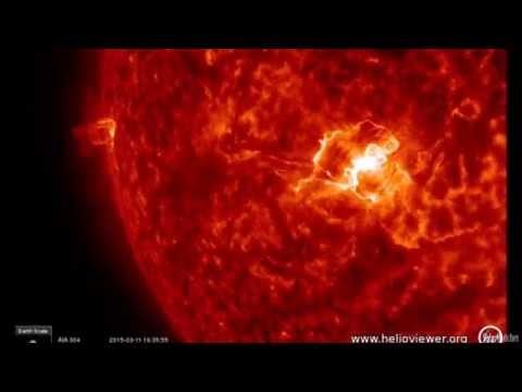 MAJOR X2.1 Solar Flare - March 11, 2015