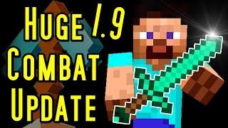 Minecraft HUGE COMBAT UPDATE - New Mechanics (1.9)