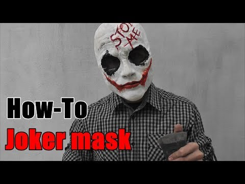 How to make a Joker Mask/SUICIDE SQUAD