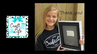 Craft Life ~  YouTube 100k Silver Play Button ~ Rainbow Loom Photos You Shared with Us