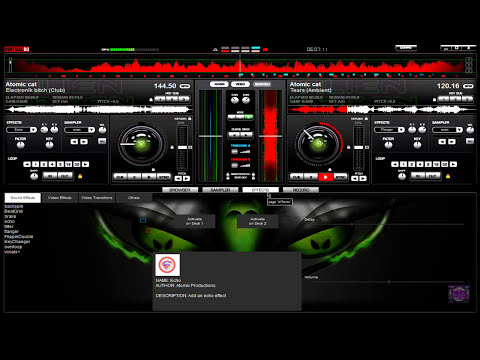 Skin Alien Green For Virtual DJ 7 By FlowerRdiohead