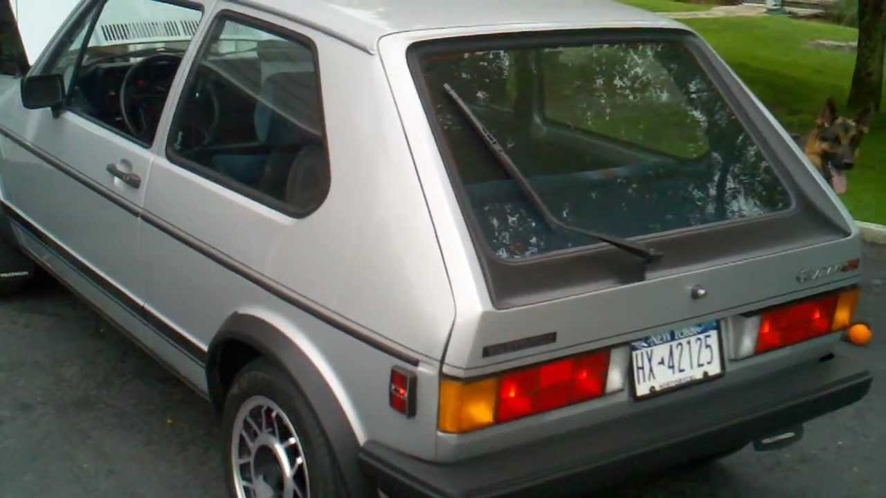 1983 VW Rabbit GTI cold start and walkaround - YouTube