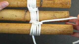 How to Lash a Bamboo Tripod by TIAT