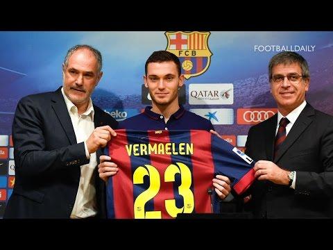 Barcelona unveil new £15m signing Thomas Vermaelen