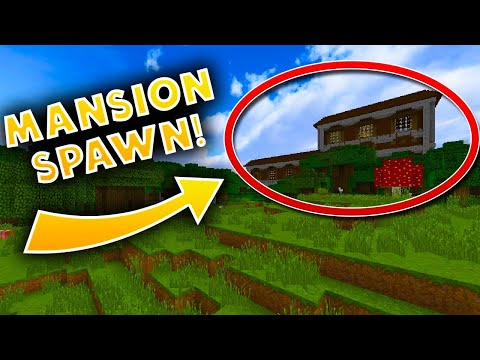 MANSION NEAR SPAWN! - Minecraft Mansion Seed 1.11.2