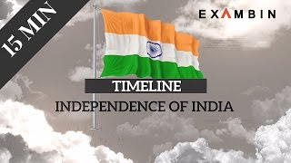 Uncovering the important events in Indian history in just 15 minutes | Indian Independence Timeline