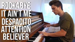 Download Lagu Rockabye - It Ain't Me - Despacito - Attention - Believer   Piano Mashup by Peter Buka Gratis STAFABAND