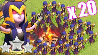 Clash Of Clans - LVL 3 ALL WITCH ATTACK!! (Over-powered or balanced?!?)