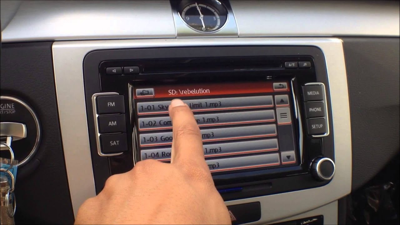 how to play music from an sd card on the vw premium 8. Black Bedroom Furniture Sets. Home Design Ideas