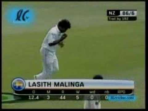 Sri Lanka v NZ 2nd test day 2 clip from 1st hr of play