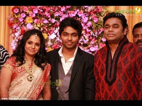 GV Prakash Kumar Weds Singer Saindhavi Reception Gallery
