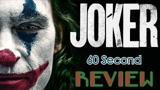 Joker 60 Second Review (NO Spoilers) | CinemaWins