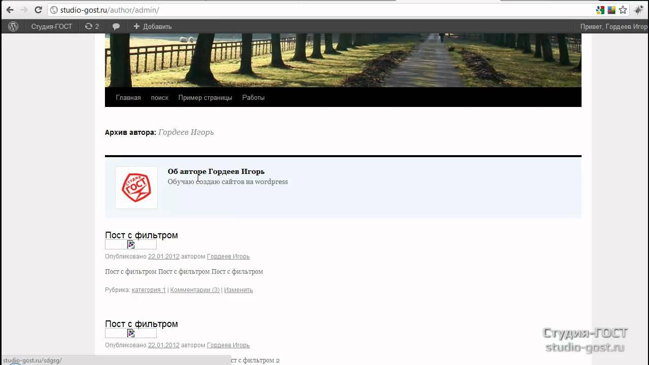 Профиль wordpress - выводим доп. поля профиля - YouTube