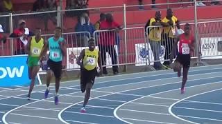 Taylor gets baton 30m behind Trinidad, Did he chase him down? MUST SEE Carifta 2017