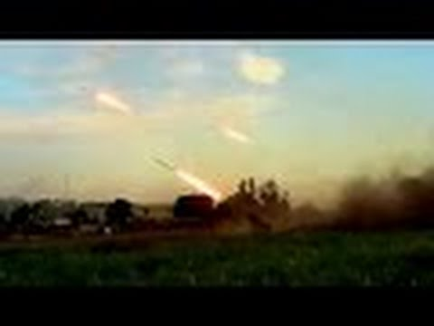 Ukraine war: Massed intense fire BM-27 Grad Ukrainian army hits terrorists