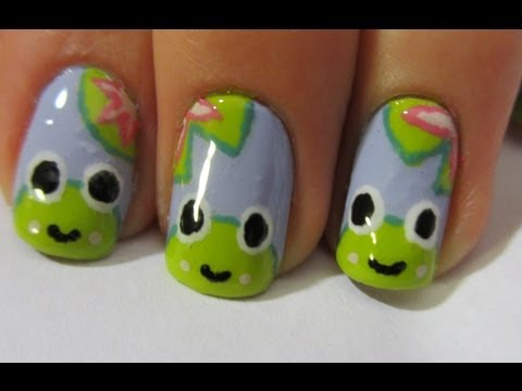Happy Frog Nail Art Tutorial