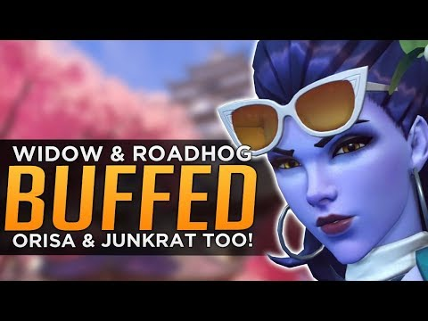 Overwatch: HUGE Widow & Junkrat BUFFS! - Orisa & Roadhog BUFFED Too!