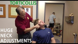 EXTREME neck pain & TORTICOLLIS is GONE with TWO HUGE NECK ADJUSTMENT's