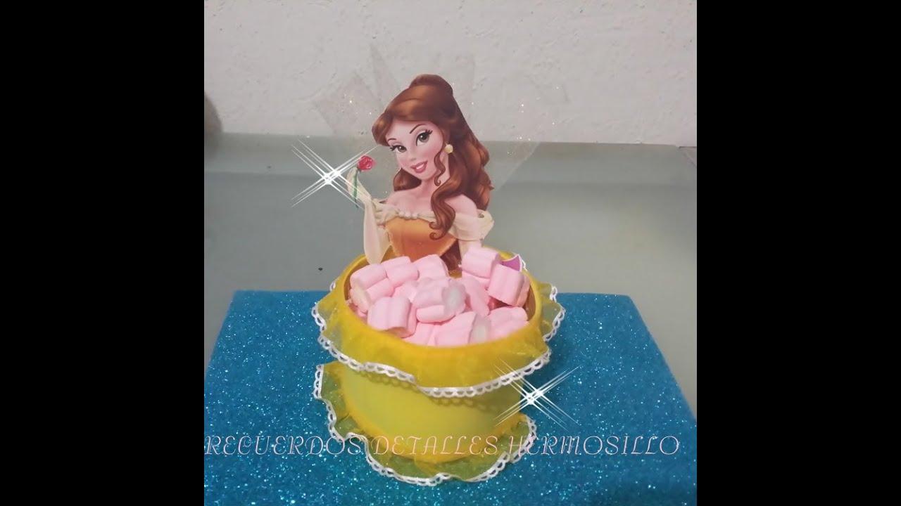 Diy como hacer dulcera princesa bella para mesa de dulces for Mesas de dulces infantiles