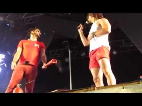 Munhoz e Mariano dançando Seu Bombeiro em Juiz de Fora - MG