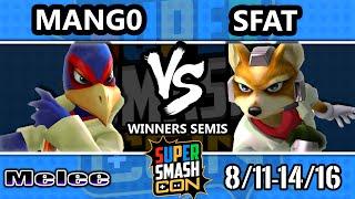 SSC 2016 SSBM - C9 Mango (Falco) Vs. CLG   SFAT (Fox) - Melee Winners Semis
