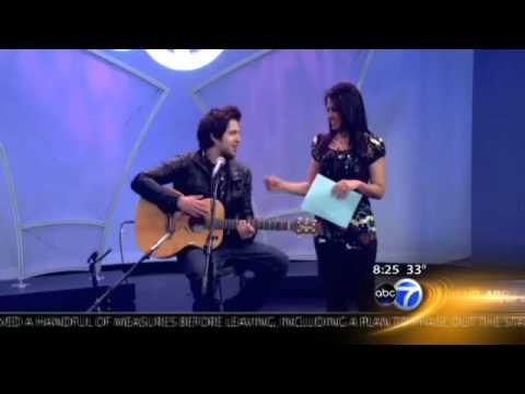 Lee DeWyze on ABC News Chicago ~Performs