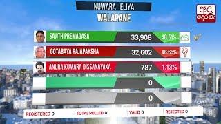 Presidential Election 2019: Nuwara Eliya District - Walapane Division Results