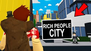 CITY Only Lets RICH PEOPLE Enter.. I Uncovered The EVIL SECRET! (Roblox Bloxburg)