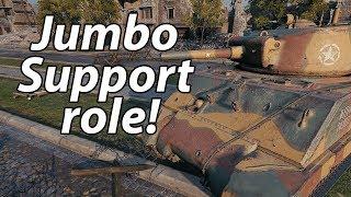 Jumbo Support Role! - Sherman E2 - World of Tanks