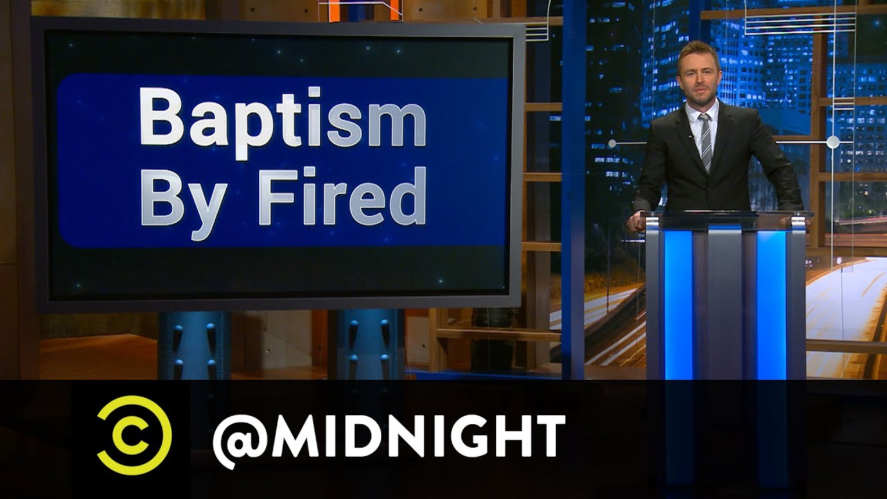 Al Madrigal, Ed Helms and Rob Riggle - Baptism by Fired - @midnight with Chris Hardwick