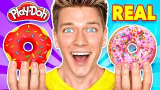 Making Food out of Play-Doh! Learn How To Make Diy Edible Candy vs Real Squishy Food Challenge