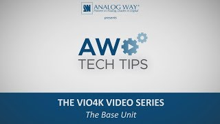 VIO 4K Video Series #1 - The Base Unit