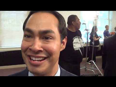 NBA CARE EVENT AT WHEATLEY SCHOOL: MAJOR JULIAN CASTRO: GARY G. (IVNEWS)