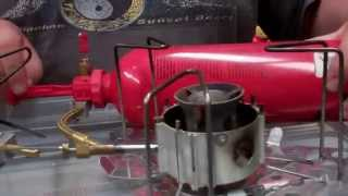 how to light a MSR liquid gas stove ie dragon fly / whisper light