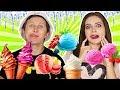 Пробуем 8 видов мороженного! Попробуй угадай вкус! Странные вкусы мороженного