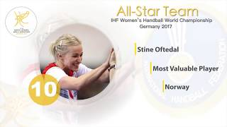 Stine Oftedal (NOR) - Most Valuable Player | IHFtv - Germany 2017