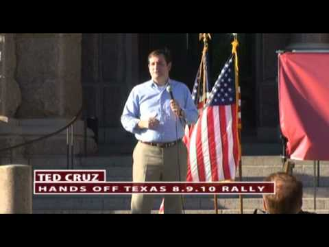 Ted Cruz, former Texas Solicitor General, at the Hands Off Texas! Rally