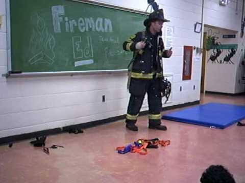 Fireman Ed visits the Kindergartners of Hillcrest School. Part 3 of 4