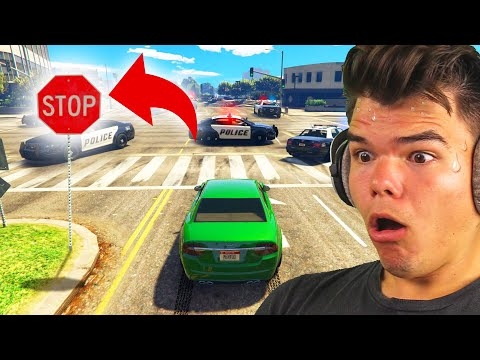 Playing GTA 5 Without BREAKING LAWS!