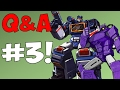 SOUNDWAVE OR SHOCKWAVE? (Q&A #3)