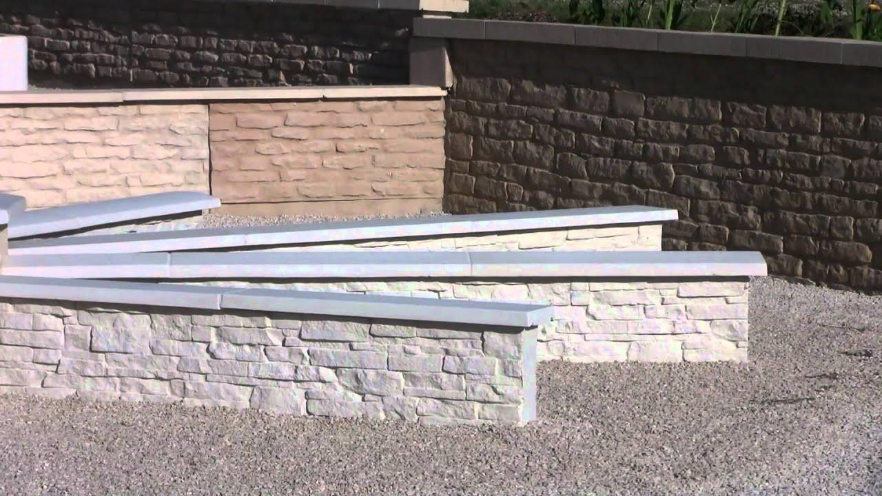 couvertines et murets en pierre reconstitu e moul e de bourgogne youtube. Black Bedroom Furniture Sets. Home Design Ideas