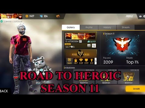 SEASON 11 ROAD TO HEROIC FULL HIGHLIGHTS !! FREE FIRE !! Gamingwithrakesh !!!