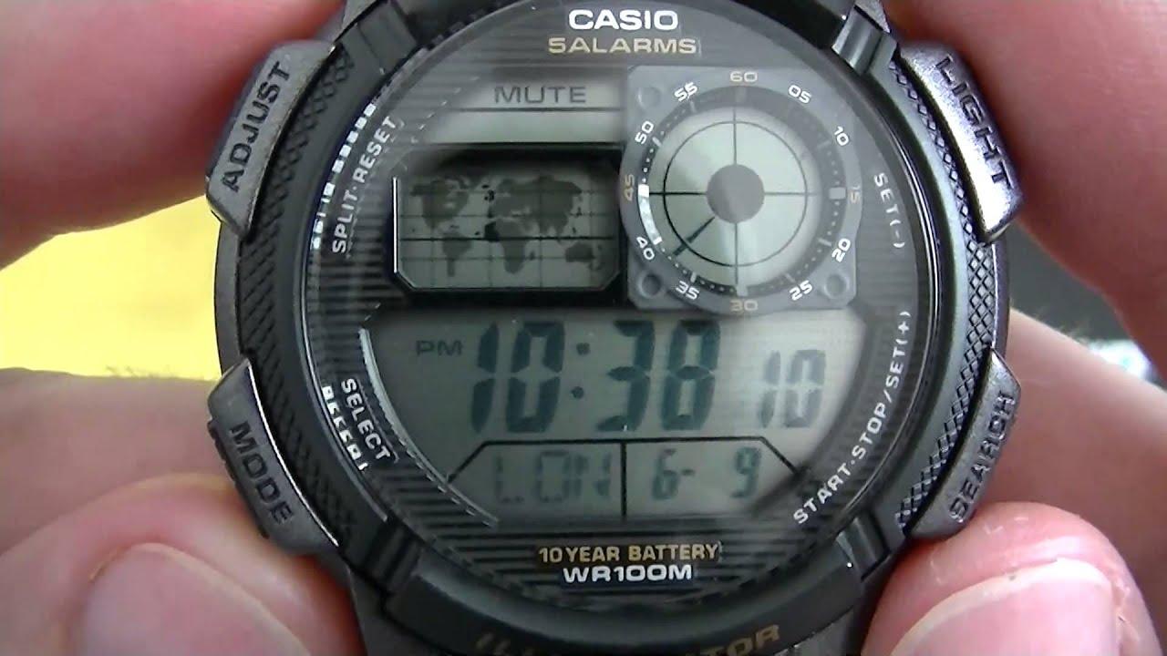 Unboxing  Casio AE1000W 1AV  World Time  PTBR  Brasil  YouTube
