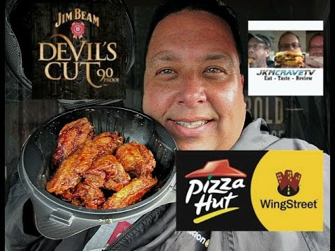 Pizza Hut's Jim Beam® Devil's Cut™ Spicy Bourbon BBQ Chicken Wings Review w/JKMCraveTV!