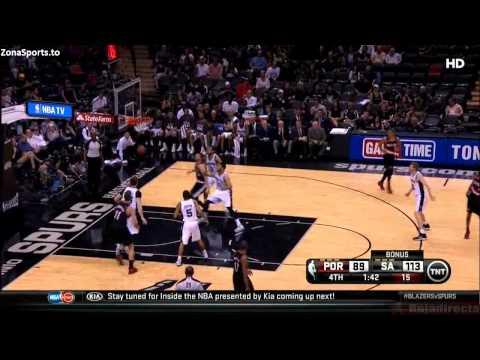 NBA, playoff 2014, Spurs vs. Trail Blazers, Round 2, Game 1, Move 45, Will Barton, 3 pointer