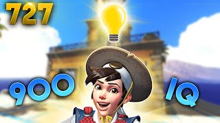 900IQ Tracer Play!! | Overwatch Daily Moments Ep.727 (Funny and Random Moments)