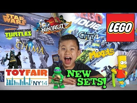 2014 LEGO SETS!!! NY Toy Fair - LEGO MOVIE. CHIMA. NINJAGO. STAR WARS. SUPER HEROES. TMNT. and MORE!